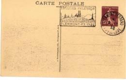 Entier Postal EP - SEC G4a - Semeuse 15c Brun - Environ De Besse - Oblitéré Expo Philatélique Clermont 1932 - Standaardpostkaarten En TSC (Voor 1995)