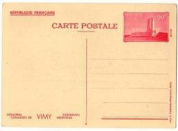 Entier Postal EP - Y TS8 - Vimy 90c Rouge - Vue N° 4 - Neuf - Standaardpostkaarten En TSC (Voor 1995)