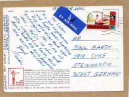 Carte Nassau Bahamas By Air Mail To Steinkamp 10 West Germany - Bahamas (1973-...)