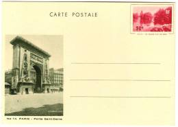 Entier Postal EP - Y TS5 - Grand Lac Du Bois 90c Rouge - Vue N° 14 - Neuf - Standaardpostkaarten En TSC (Voor 1995)
