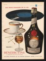 Pub Papier 1959 Boisson Liqueur La BENEDICTINE Bon Moment - Advertising