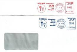 2 Ema -freistempel Francotyp Postalia  T 1000  ERKTATH  F 761768 Goebel Schrauben Für Die Technik Von Morgen - [7] Repubblica Federale