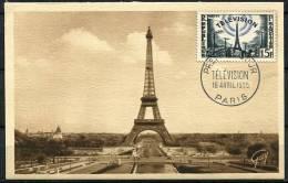 N° 1022 Sur Carte Maximum / Télévision - 1950-59