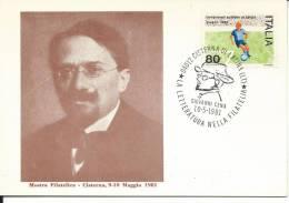 MF420 - MARCOFILIA -LA LETTERATURA NELLA FILATELIA- GIOVANNI CENA- 10.5.1981-CISTERNA DI LATINA - TEMATICA LETTERATURA - 1971-80: Marcophilia