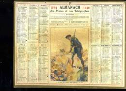 Calendrier 1930, Il Ne Faut Pas Courir 2 Lièvres à La Fois, Chasseur. - Calendriers