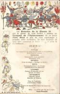 MENU Militaire Du BANQUET De L'enterrement Du PERE CENT - Menus