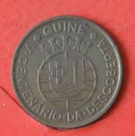 GUINÉ BISSAU  1  ESCUDOS  1946   KM# 7  -    (1530) - Guinea-Bissau