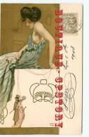 """ART NOUVEAU < RAPHAEL KIRCHNER """" Les Marionnettes 1 - Belle Carte Voyagée 1903 - Dos Scanné - Kirchner, Raphael"""