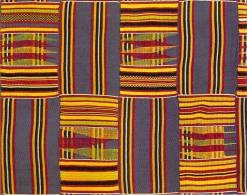 Afrique -GHANA, Ashanti Kente Cloth (detail)(Katherine Coryton White Collection)(African Art In Motion 1974) - Ghana - Gold Coast