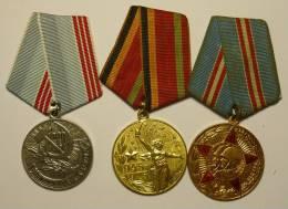 D Russie Russia Russland Lot 10 Médailles Soviétiques / 10 Soviet Medals - Russia