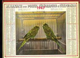 Calendrier 1947, Perruches, - Kalenders