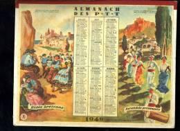 Calendrier 1949 Double Cartonnage, Danses Ridée, Farandole, Bourrée, Valse. - Kalenders