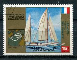 Guinée Equatoriale 1972 - Poste Aérienne YT 14 (o) - Voilier - Trans-Atlantique - Guinée Equatoriale