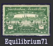 VIGNETTE**  - Zurich 1907 - Suisse - Vignetten (Erinnophilie)