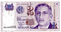 BILLET SINGAPOUR - P.38 - 1999 - 2 DOLLARS - ARMOIRIE - PORTRAIT DE YUSOF BIN ISHAK - ECOLE ET ECOLIERS - Singapour