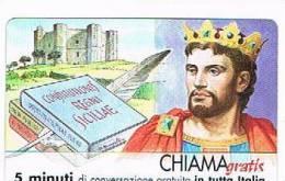 CHIAMAGRATIS - 120 PERSONAGGI PER IL PROGRESSO DELL' UMANITA'(44): FEDERICO II DI SICILIA     - NUOVA  (RIF.CP) - Italy