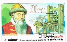 CHIAMAGRATIS - 120 PERSONAGGI PER IL PROGRESSO DELL' UMANITA'(50): GUTENBERG      - NUOVA  (RIF.CP) - Italy