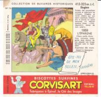 Buvard Biscottes Corvisart,collection Historique N° 14, Diogéne - Biscotti