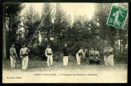 37 - HOMMES - RARE - La Compagnie Des Pompiers En Manœuvre - BELLE ANIMATION - Other Municipalities