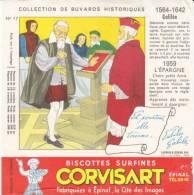 Buvard Biscottes Corvisart,collection Historique N° 17, Galilée - Biscotti