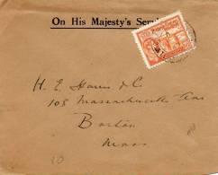 Turks & Caicos Islands OHMS 1942 Cover Mailed To USA - Turks & Caicos (I. Turques Et Caïques)