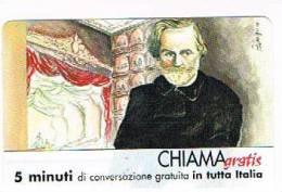 CHIAMAGRATIS - 120 PERSONAGGI PER IL PROGRESSO DELL' UMANITA'(93):  GIUSEPPE VERDI         - NUOVA  (RIF.CP) - Italy