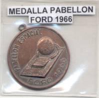 PABELLON ESPACIAL FORD 1966 - REPUBLICA ARGENTINA - MEDALLA RARE - Professionals / Firms
