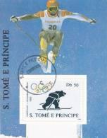 Olympics Albertville - Bloc Sao Tome - Ski Ours Bear - Winter 1992: Albertville