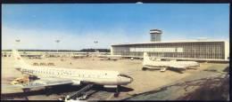 "POSTCARD  AIROPLANES AIRPORT MOSKVA  MOSCOW ""DOMODEDOWO ""  LONG POSTCARD - Aerodrome"