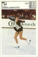 SPORT CARD - SANDA DUBRAVČIĆ (Dubravcic), Yugoslavia, 1980., 10 X 15 Cm - Skating (Figure)