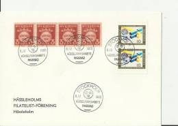 SWEDEN 1968 - FDC HEARING ASSOCIATION MARKET  W 6  STS 0F 4 OF 3 ORE - 2 OF 10  ORE  POSTM STOCKHOLM  DEC 8 RE 2036 - FDC