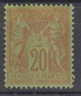 France N° 96  Neuf * - 1876-1898 Sage (Type II)