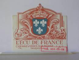 CHENNEVIERES SUR MARNE (94) - L' ECU DE FRANCE - DEPLIANT PUBLICITAIRE - Advertising