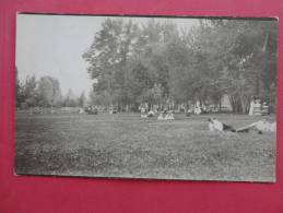 Real Photo ---To ID Park Scene   AZO Stamp Box --  Ref 856 - Missions