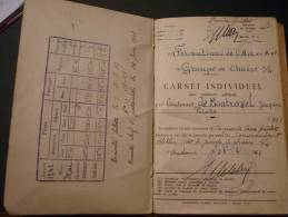 CARNET INDIVIDUEL Des Services Aériens - Documentos Históricos
