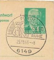 Oase Der Ruhe FÜRTH 1963 Auf DDR P70 II A Antwort-Postkarte ZUDRUCK BÖTTNER #1 - Holidays & Tourism