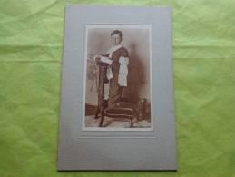 Photo Communiant Sur Support Carton Rigide-brassard-prie Dieu-1918- - Photography