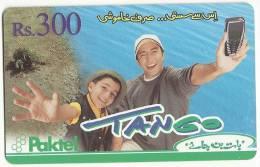 Pakistan Used Mobile Phonecard  Rs300 TANGO Paktel - Pakistan