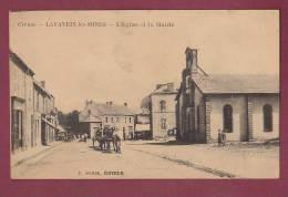 23 - 100313 - LAVAVEIX LES MINES - L'église Et La Mairie. - Andere Gemeenten