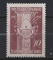 Finlande 1947  Neuf N° 321caisse D´épargne Postale - Finland