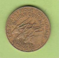 Pièce - Cameroun - Etat De L´Afrique Equatoriale - 10 Francs - 1965 - Camerún