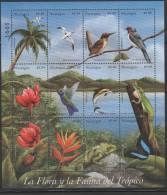 Nicaragua. Flora And Fauna. 1999. MNH Sheet Of 12.  SCV = 11.00 - Timbres