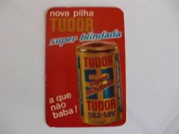 Battery Tudor Portuguese Pocket Calendar 1975 - Calendriers
