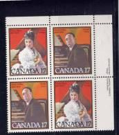 CANADA, 1980, MNH, #861a,  CANADIAN MUSICIANS : EMMA ALBANI & HEALY WILLAN   MNH - Blocs-feuillets