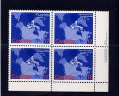 CANADA, 1980, MNH, #847, MAP OF CANADA   MNH - Blocs-feuillets