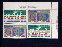 CANADA, 1980, MNH, #858a,  O CANADA  BLOCK                            MNH - Blocs-feuillets
