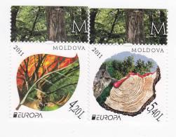 Moldova ; Moldavie ; Moldawien ;  2011 ; Europa CEPT , Birds , Owl , Forest, Deer,   MNH - 2011