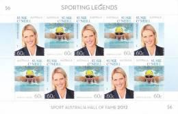 Australia   2012  Sporting Legends Susie O'Neill Sheetlet MNH - 2010-... Elizabeth II