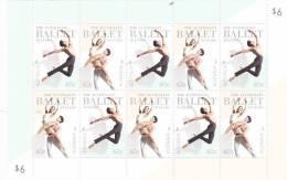 Australia   2012 The Australian Ballet 50 Years Sheetlet MNH - 2010-... Elizabeth II