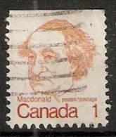 Canada  1972-77  Caricatures  (o) J.A.MacDonald - Carnets